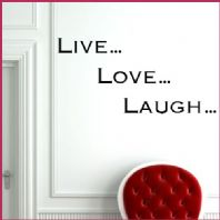 Live Laugh Love Wall sticker / decals